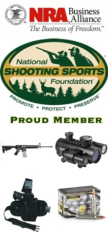 NRA Business Alliance & NSSF Logos with Firearms & Accessories